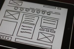 wireframe in UX design