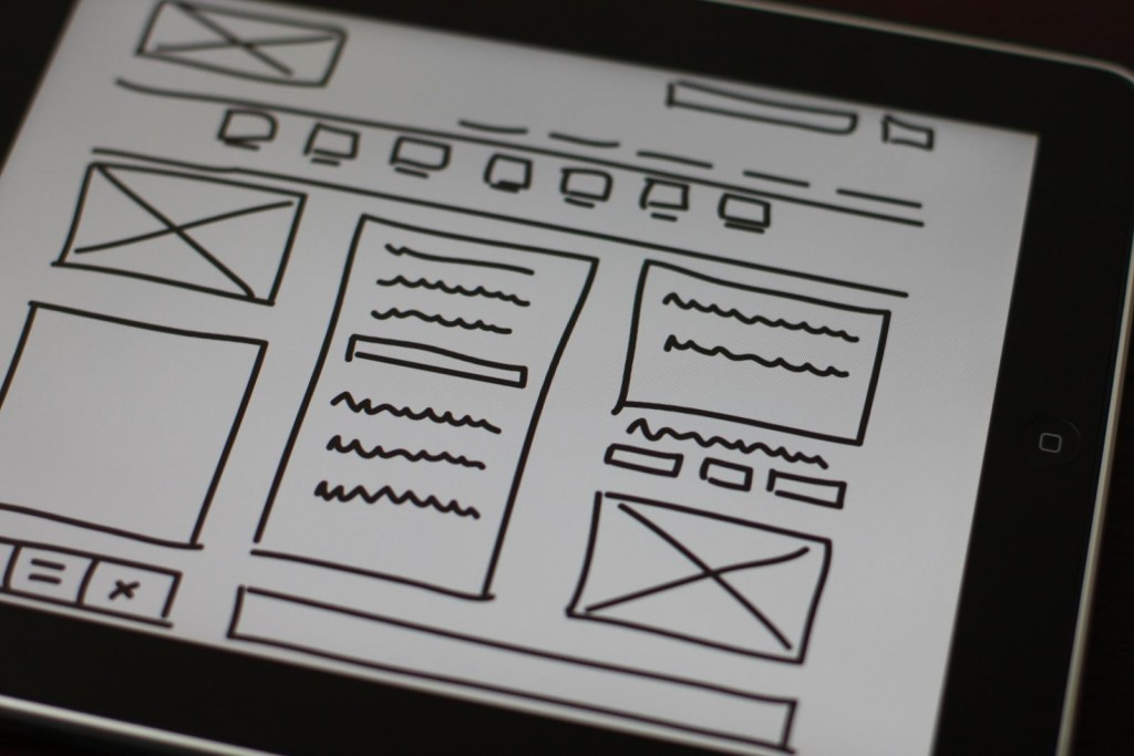 wireframe in UX design